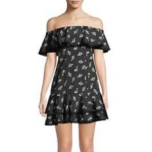 Likely Adelia Rose Print Off The Shoulder Dress